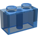 LEGO Transparent Dark Blue Brick 1 x 2 (3004)