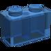 LEGO Transparent Dunkelblau Backstein 1 x 2 (3004)