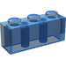 LEGO Transparent Dark Blue Brick 1 x 3 (3622)