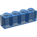 LEGO Transparent Dark Blue Brick 1 x 4 (3010 / 6146)