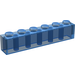 LEGO Transparent Dark Blue Brick 1 x 6 (3009)