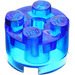 LEGO Transparent Dark Blue Brick 2 x 2 Round (6116 / 6143)