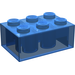 LEGO Transparent Dark Blue Brick 2 x 3 (3002)