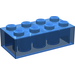 LEGO Transparent Dark Blue Brick 2 x 4 (3001)