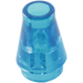 LEGO Transparent Dark Blue Cone 1 x 1 without Top Groove (4589 / 6188)