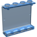 LEGO Transparent Dark Blue Panel 1 x 4 x 3 without Side Supports, Solid Studs (4215)