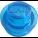 LEGO Transparent Dark Blue Plate 1 x 1 Round (30057 / 34823)