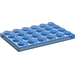 LEGO Transparent Dark Blue Plate 4 x 6 (3032)