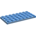 LEGO Transparent Dark Blue Plate 4 x 8 (3035)