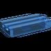 LEGO Transparent Dunkelblau Fliese 1 x 2 Gitter (mit Bottom Groove) (2412)