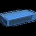 LEGO Transparent Dark Blue Tile 1 x 2 (undetermined type)