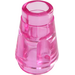 LEGO Transparent Dark Pink Cone 1 x 1 with Top Groove (28701 / 64288)