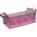 LEGO Transparent Dark Pink Treasure Chest Bottom without Slots in Back (4738)