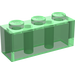 LEGO Transparent Green Brick 1 x 3 (3622)