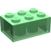 LEGO Transparent Green Brick 2 x 3 (3002)