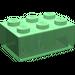 LEGO Transparent Green Brick 2 x 3 (3002)