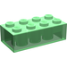 LEGO Transparent Green Brick 2 x 4 (3001)