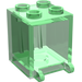 LEGO Transparent Green Container 2 x 2 x 2 with Recessed Studs (30060)