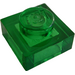 LEGO Transparent Green Plate 1 x 1 (3024 / 28554)