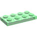 LEGO Transparent Green Plate 2 x 4 (3020)