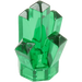 LEGO Transparent Green Rock 1 x 1 with 5 Points (30385)