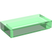 LEGO Transparent Green Tile 1 x 2 with Groove (30070)