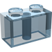 LEGO Transparent Light Blue Brick 1 x 2 (3004)