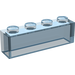 LEGO Transparent Light Blue Brick 1 x 4 without Stud Bars (3066)