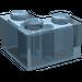 LEGO Transparent Light Blue Brick 2 x 2 Corner (2357)