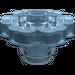 LEGO Transparent Light Blue Flower 2 x 2 with Open Stud