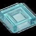 LEGO Transparent Hellblau Fliese 1 x 1 mit Groove (30039 / 35403)