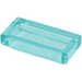 LEGO Transparent Light Blue Tile 1 x 2 with Groove (30070)