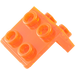 LEGO Transparent Neon Reddish Orange Bracket 1 x 2 - 2 x 2 (86644)