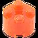 LEGO Transparent Neon Reddish Orange Brick 2 x 2 Round (6116)