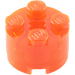 LEGO Transparent Neon Reddish Orange Brick 2 x 2 Round (6116 / 39223)