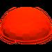 LEGO Transparent Neon Reddish Orange Hemisphere 4 x 4 Multifaceted (30208)