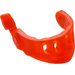 LEGO Transparent Neon Reddish Orange Minifigure Visor Pointed with Face Grille and Antenna (22394)