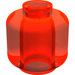 LEGO Transparent Neon Reddish Orange Plain Head (Safety Stud) (3626)
