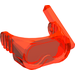 LEGO Transparent Neon Reddish Orange Scuba Mask with Air Hose
