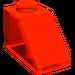 LEGO Transparent Neon Reddish Orange Slope 1 x 2 (45°)
