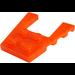 LEGO Transparent Neon Reddish Orange Wing 4 x 4 with 2 x 2 Cutout (43719)
