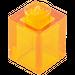 LEGO Orange transparent Brique 1 x 1 (30071 / 35382)