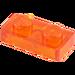 LEGO Transparente Orange Platte 1 x 2 (6225 / 28653)