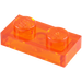 LEGO Transparent Orange Plate 1 x 2 (6225)