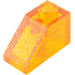 LEGO Transparent Orange Slope 1 x 2 (45°) (6270 / 35281)