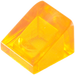 LEGO Transparent Orange Slope 31° 1 x 1 (35338 / 50746)
