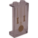 LEGO Transparent Panel 1 x 2 x 3 with Grandfather Clock Pendulums Sticker with Side Supports - Hollow Studs