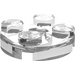 LEGO Transparent Plate 2 x 2 Round with Axle Hole (with '+' Axle Hole) (4032)