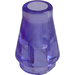 LEGO Transparent Purple Cone 1 x 1 without Top Groove (6188)