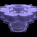 LEGO Transparent Purple Flower 2 x 2 with Open Stud (30657)
